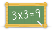 Tafels oefenen logo