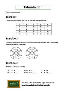 Aprendendo A Tabuada De Multiplicacao De 1 Jogando
