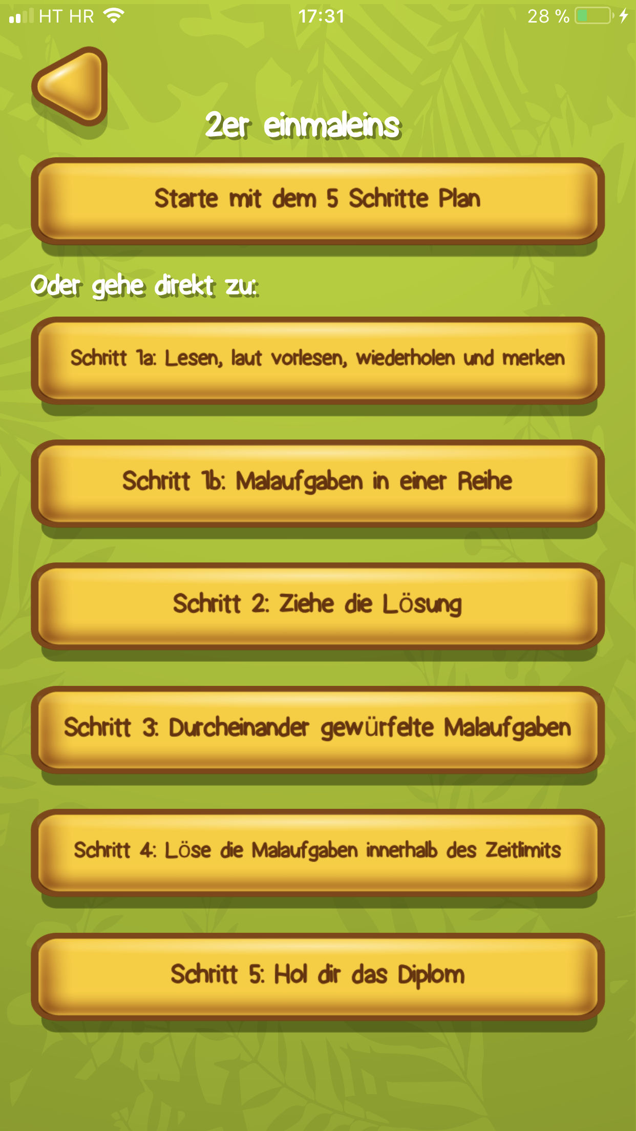 Einmaleins App Vorbild 2