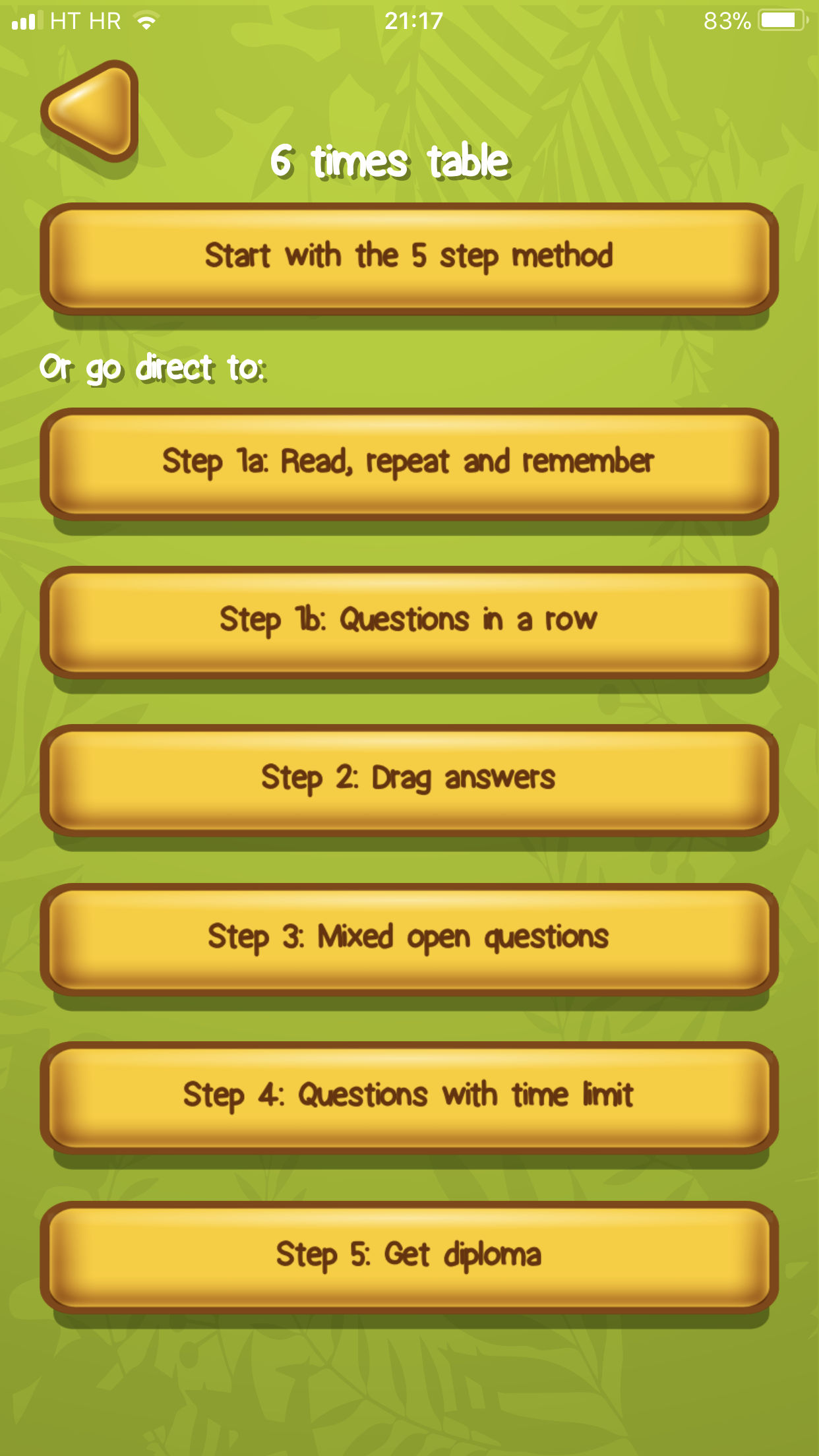 Times tables App Example 2