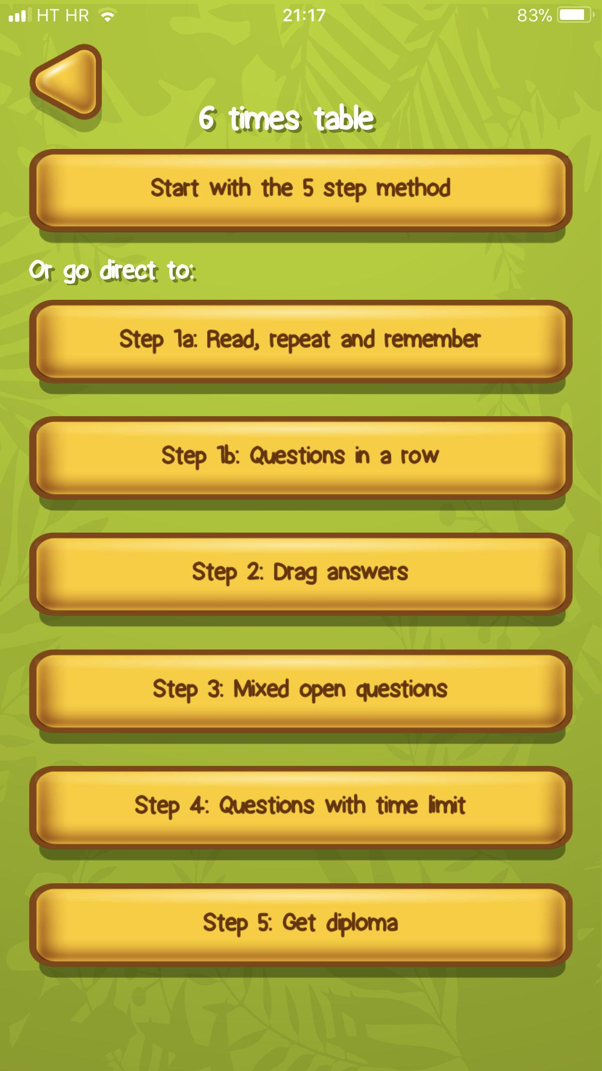 Tabliczki mnożenia Aplikacja przykład 2