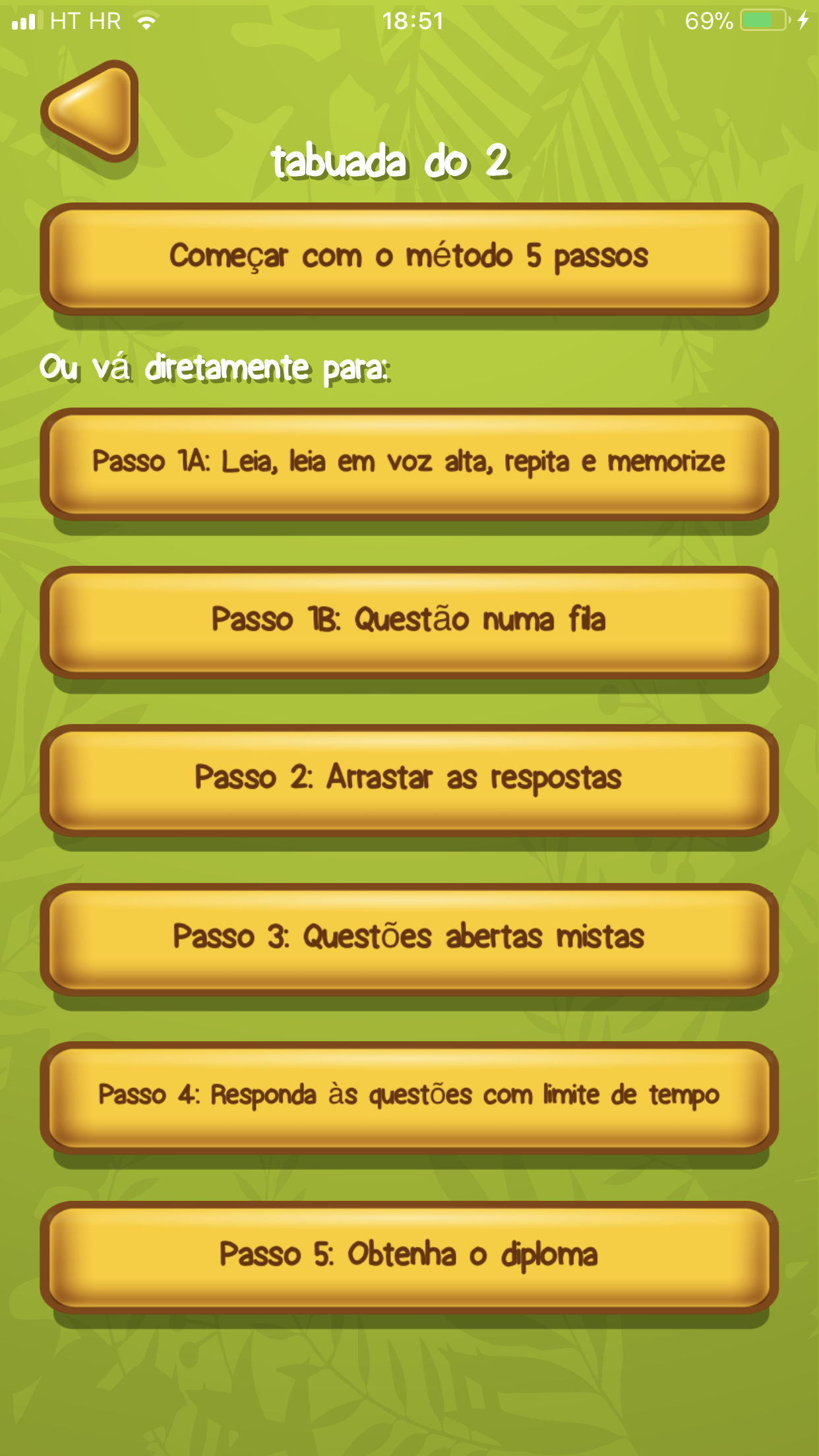 App de Prática de Tabuada exemplo 2