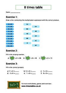 Free 8 times table worksheets at timestables watch worksheet ibookread Read Online